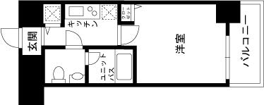 【家具付き賃貸】スカイコート都立大学第3 804