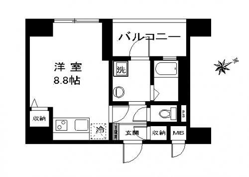 【家具付き賃貸】マストライフ目黒南 211